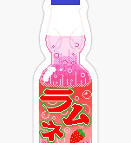 Strawberry Ramune Sticker