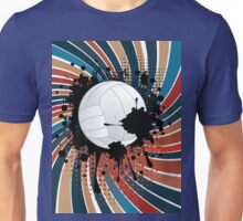 Volleyball Ball on Rays Background 2 Unisex T-Shirt