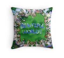 [Hetalia] Beautiful World! #10YrsOfHetalia Throw Pillow