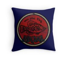 Indiana on the fly Throw Pillow