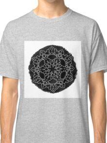 Black Brush Mandala Classic T-Shirt