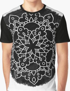 Black Brush Mandala Graphic T-Shirt