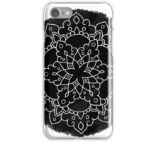 Black Brush Mandala iPhone Case/Skin