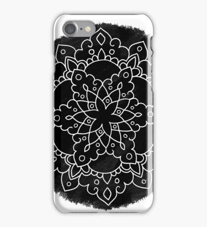 Black Brush Mandala iPhone Case/Skin