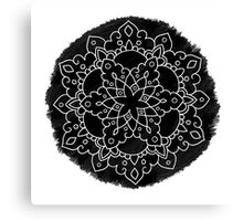 Black Brush Mandala Canvas Print