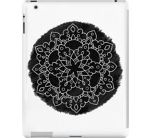 Black Brush Mandala iPad Case/Skin