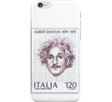 Postage Stamp Genius:  Albert Einstein iPhone Case/Skin