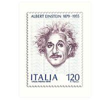 Postage Stamp Genius:  Albert Einstein Art Print