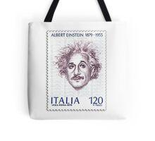 Postage Stamp Genius:  Albert Einstein Tote Bag