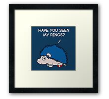 Have you seen my rings? Framed Print