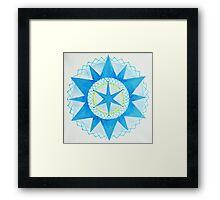 12 pointed Star Mandala Framed Print