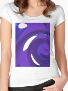 Catch a Wave - Blue Black Women's Fitted Scoop T-Shirt