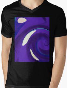 Catch a Wave - Blue Black Mens V-Neck T-Shirt