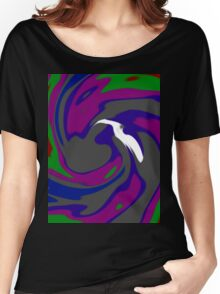 The Bird - Purple Green  Women's Relaxed Fit T-Shirt