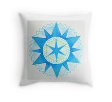 12 pointed Star Mandala Throw Pillow