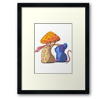 Mouse and Mushroom Framed Print