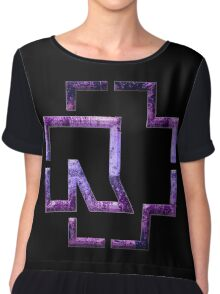 MADE IN GERMANY - violet grunge Chiffon Top