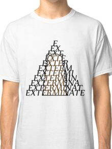 Doctor Who Dalek — EXTERMINATE Classic T-Shirt