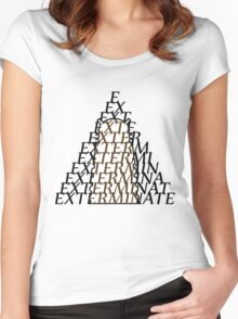 Doctor Who Dalek — EXTERMINATE Women's Fitted Scoop T-Shirt