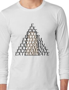 Doctor Who Dalek — EXTERMINATE Long Sleeve T-Shirt