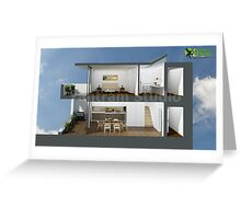 3D Section View Floor Plan Greeting Card