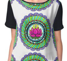 Lotus Flower Mandala Chiffon Top