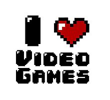 I Heart Video Games Photographic Print