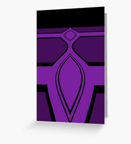 Think Purple Think Black Greeting Card