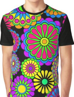 Happy Hippy Flowers Graphic T-Shirt