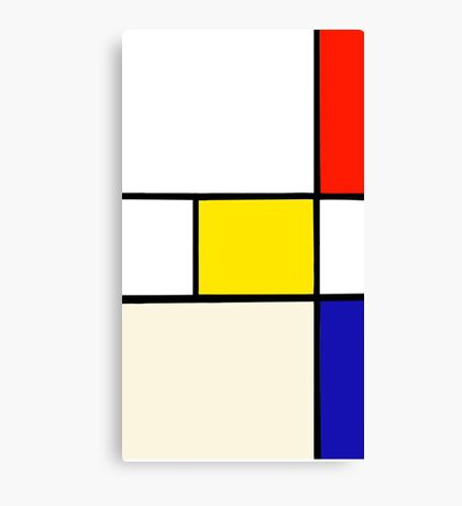 A Piet Mondrian Study Canvas Print