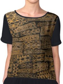 Of Ancient Art and Paper Chiffon Top