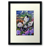 Panda Play Framed Print