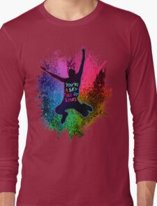 A Head Full of Dreams Rainbow Splatter Long Sleeve T-Shirt