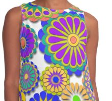 Happy Hippy Flowers 2 Contrast Tank