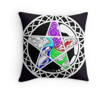 Five Elements Colour Version Throw Pillow