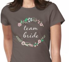 Team Bride Floral Chalkboard  Womens Fitted T-Shirt
