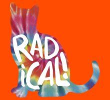 Radical Cat Tie Dye Kids Tee