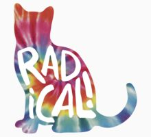 Radical Cat Tie Dye Baby Tee