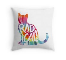 Radical Cat Tie Dye Throw Pillow