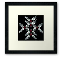 Gothic Blood Stone Bat Wings Framed Print