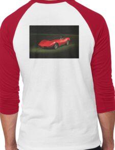 1973 Corvette Convertible Men's Baseball ¾ T-Shirt