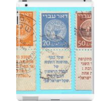 Doar Ivri (Hebrew Post) are stamps that were issued prior to declaration of the state of Israel  iPad Case/Skin