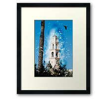 Computer Generated Israel, Jaffa, the belfry of the St Peter church and Monastery Framed Print