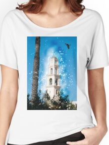 Computer Generated Israel, Jaffa, the belfry of the St Peter church and Monastery Women's Relaxed Fit T-Shirt