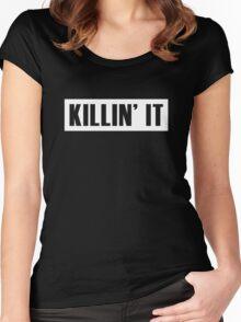 Killin' It - White Women's Fitted Scoop T-Shirt