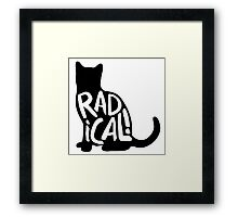 Radical Cat Framed Print