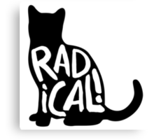 Radical Cat Canvas Print