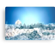 Israel, Jerusalem, the Wailing Wall and Dome of the Rock Metal Print