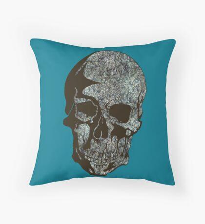 Skull Pollock Throw Pillow