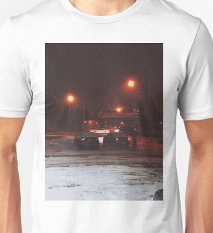 8:23, Just got out into a blizzard Unisex T-Shirt